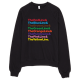Bon Bon Vie Chicago Transit Sweatshirt Black