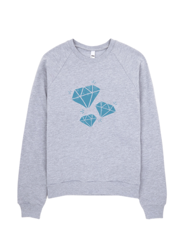 Bon Bon Vie Diamond Life Sweatshirt Heather Gray