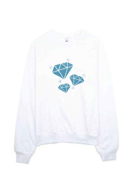 Bon Bon Vie Diamond Life Sweatshirt White