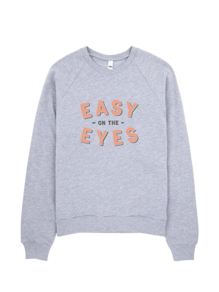 Bon Bon Vie Easy On The Eyes Sweatshirt Heather Gray