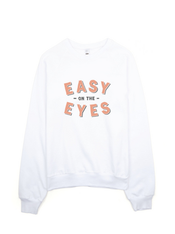 Bon Bon Vie Easy On The Eyes Sweatshirt White