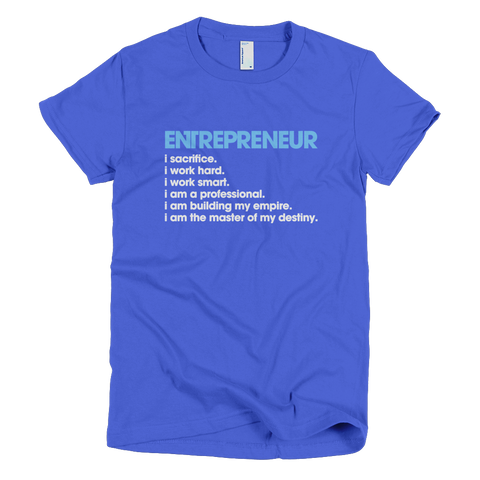 Bon Bon Vie Entrepreneur T-Shirt Royal Blue