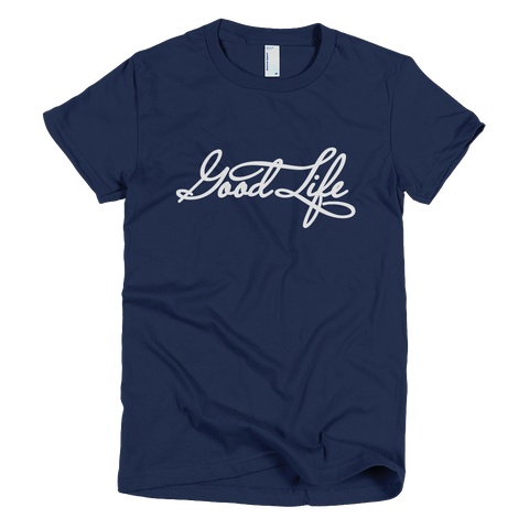 Bon Bon Vie Good Life T-Shirt Navy