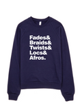 Bon Bon Vie Hair Envy Sweatshirt Navy