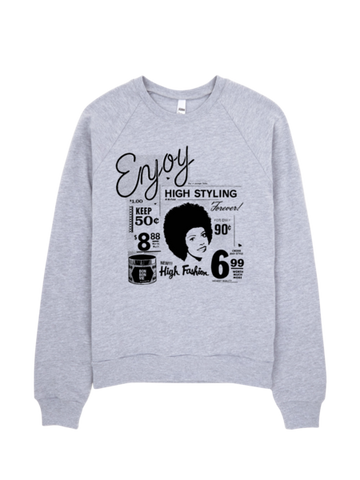 Bon Bon Vie Retro Chic Sweatshirt Heather Gray