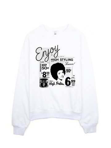 Bon Bon Vie Retro Chic Sweatshirt White
