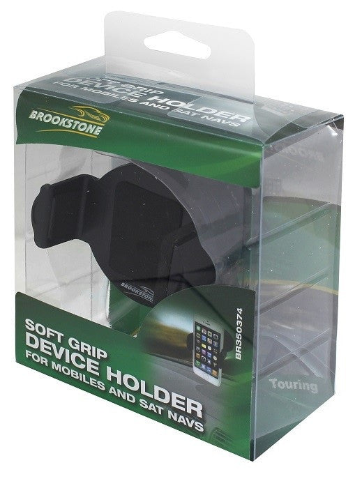 BROOKSTONE IN CAR SOFT GRIP DEVICE HOLDER
