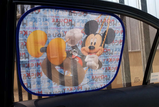Disney Mickey Mouse Clubhouse Side Car Sun shade X2 UV Protection for Children - Xtremeautoaccessories