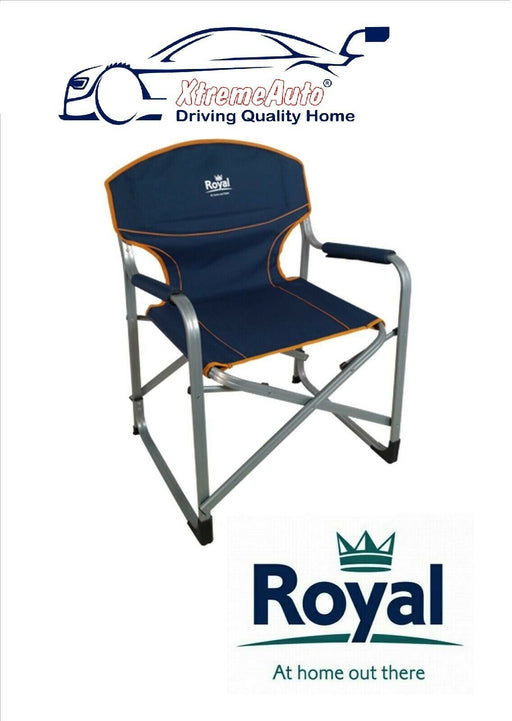 Royal Caravan And Camping folding Aluminium Directors Chair fishing BBQ - Xtremeautoaccessories