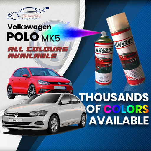 VW Volkswagen Polo MK5 2009  Colours Stone Chip Scratch Aerosol Spray Can Paint - Xtremeautoaccessories