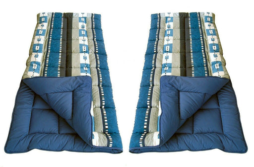 2x 4 Seasons Expression Super King Size Sleeping Bag 600g/m² Caravan Camping - Xtremeautoaccessories