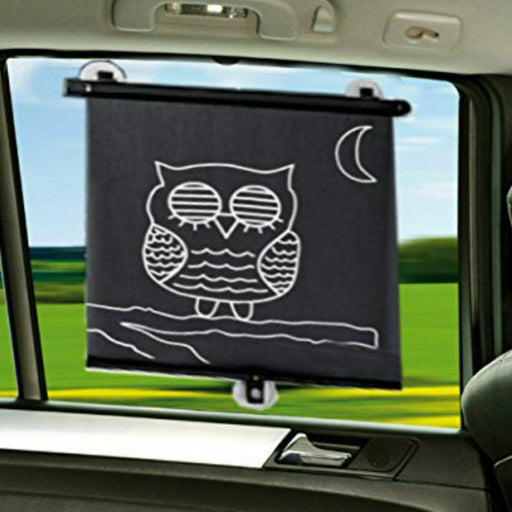 Cute Owl Roller Sun blind / Car Sun Shades Pack of 2 Adjustable Length Protects - Xtremeautoaccessories