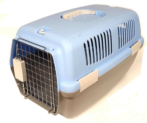CAT DOG ANIMAL PORTABLE TRAVELLING CARRIER CRATE FOR TRANSPORTING + METAL CAGE - Xtremeautoaccessories