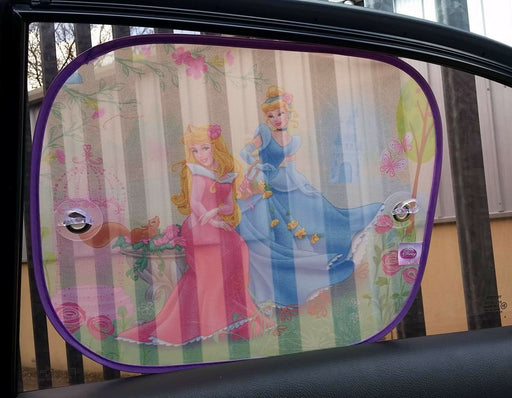 Disney Cinderella Side Car Sun shade X2 UV Protection for Children - Xtremeautoaccessories