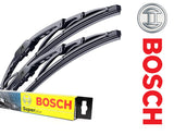 CHRYSLER PT Cruiser Hatchback 2000-2008 Bosch Super+ Replacement Front Screen Windscreen Wiper Blades + Wurth Screen wash