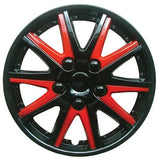 Chevrolet Combo Black red Wheel Trims Covers (2001-2016)
