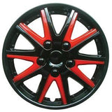 Alfa Romeo Mito Black red Wheel Trims Covers (2008-2016)