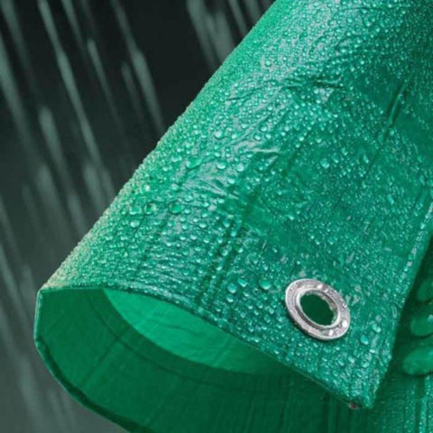 Green Tarpaulin Plastic Canopy Tarp PVC Sheet Waterproof Heavy Duty Cover 8ft x 6ft - GDS082
