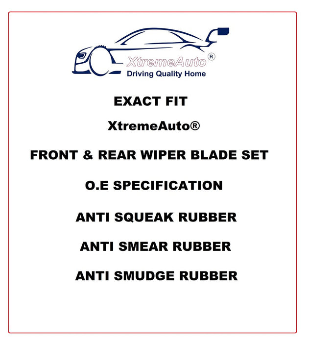 Perodua Perodua Kenari 2000-2010 Xtremeauto® Front/Rear Window Windscreen Replacement Wiper Blades