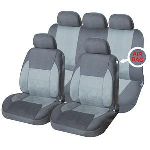 XtremeAuto® Universal 9 PCE Luxury Grey Heavy Padded Comfortable Full Set of Seat Covers