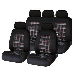 XtremeAuto® Universal 9 PCE Lambeth Tartan GTI Style Heavy Padded Comfortable Full Set of Seat Covers - Xtremeautoaccessories