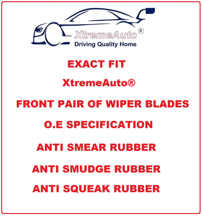 Mercedes Benz Vito Mk2 W639 2 Rear Doors 2005-2011 Xtremeauto® Front Window Windscreen Replacement Wiper Blades Pair