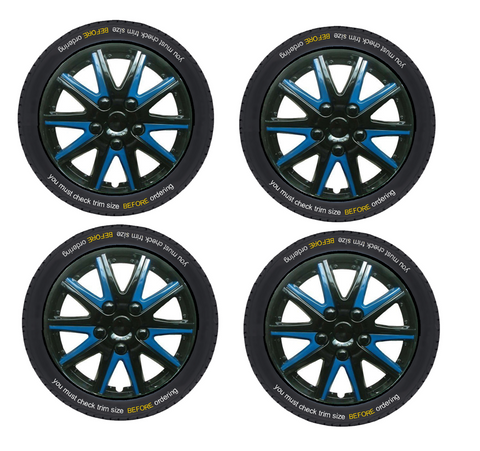 Chevrolet Celta Black Blue Wheel Trims Covers (2000-2016)