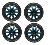 Chevrolet Kalos Black Blue Wheel Trims Covers (2005-2011)