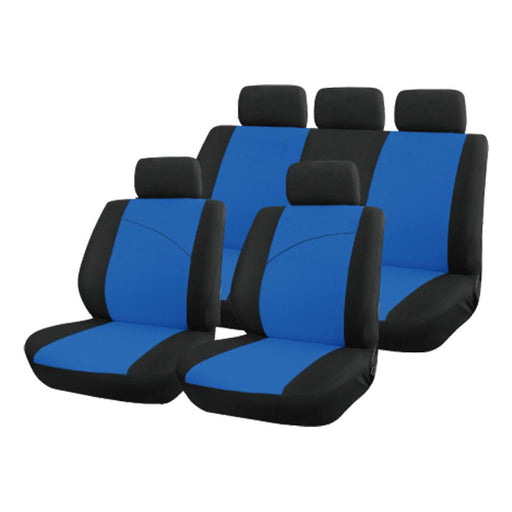 XtremeAuto® Universal Blue / Black Style Comfortable Full Set of Seat Covers - Xtremeautoaccessories
