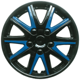 Alfa Romeo 147 Black Blue Wheel Trims Covers (2001-2010)