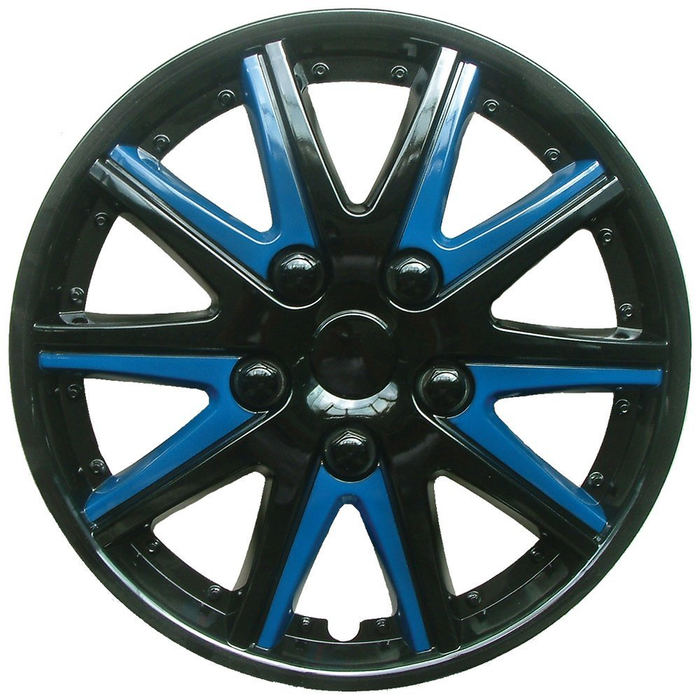 Skoda Fabia Black Blue Wheel Trims Covers (2006-2014)