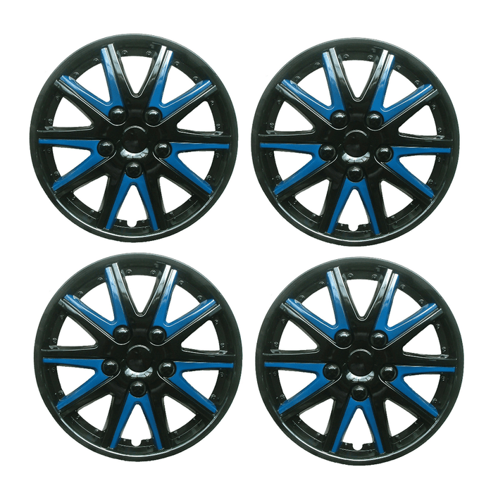 Alfa Romeo Mito Black Blue Wheel Trims Covers (2008-2016) - Xtremeautoaccessories