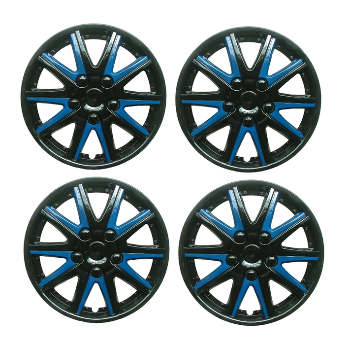 Peugeot 208 Black Blue Wheel Trims Covers (2012-2016)