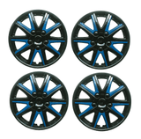 Alfa Romeo Giulietta Black Blue Wheel Trims Covers (2010-2016)