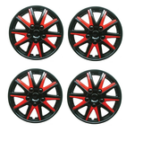 Chevrolet Astra Black red Wheel Trims Covers (1998-2016)