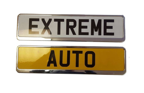XtremeAuto Car Registration License Number Plate Surrounds Holder Frame Chrome Look