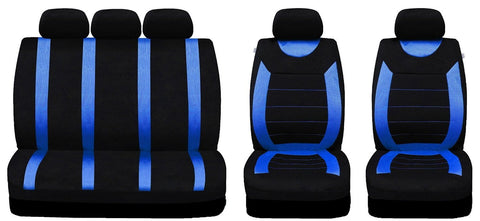 Stupendous Xtremeauto 9 Pce Sports Carnaby Blue Black Full Set Of Seat Covers Pdpeps Interior Chair Design Pdpepsorg