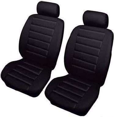 XtremeAuto® Bloomsbury black front Leather Look Car Seat Covers