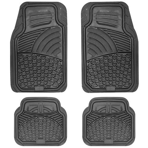 BROOKSTONE HARDWEARING LUXURY INTERIOR CAR FLOOR MATS SET
