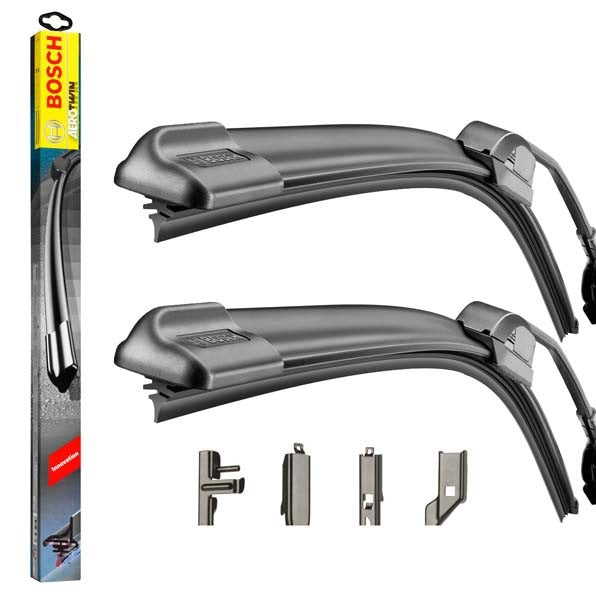 Fiat Bravo Mk2 2007-2014 Bosch Multi Clip Twin Pack Front Window Windscreen Replacement Wiper Blades Pair