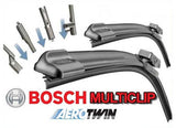 ALFA ROMEO GT 2005-2011 Bosch Multi Clip Twin Pack Front Window Windscreen Replacement Wiper Blades Pair