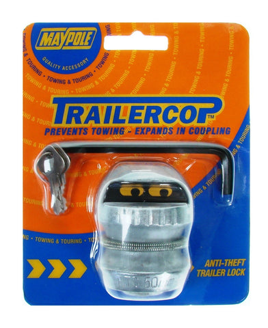 50mm towball hitch lock anti theft Car trailer cop type