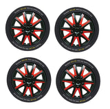 Chevrolet Alero Black red Wheel Trims Covers (1999-2004)