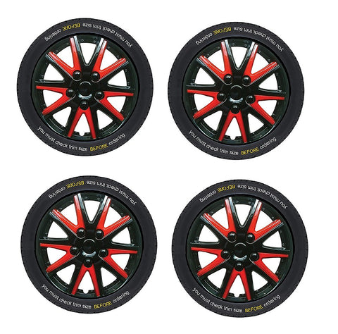Chevrolet Celta Black red Wheel Trims Covers (2000-2016)