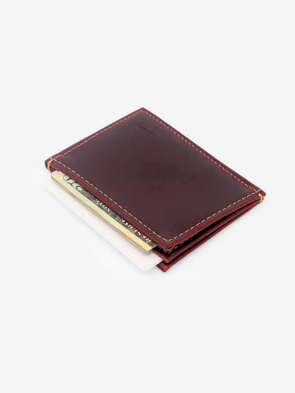 Slimmy OG 3-Pocket Wallet (73mm) - Oil Tan - bolstr