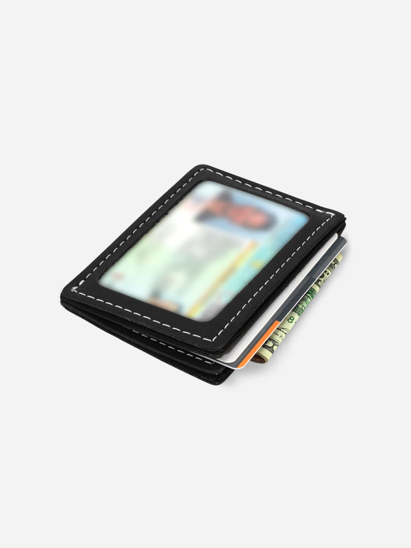 Slimmy R3S1V Mini 3-Pocket Wallet (68mm) - Black - bolstr