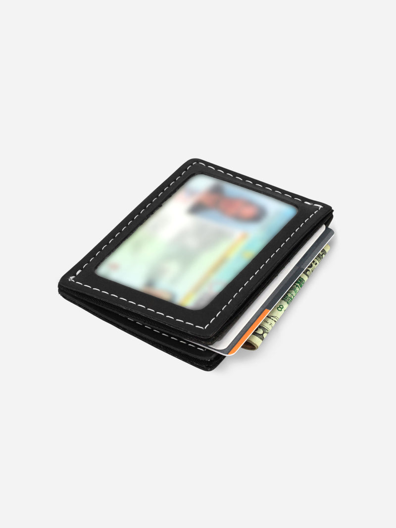Slimmy R3S1V Mini 3-Pocket Wallet (68mm) - Black - Koyono Co.