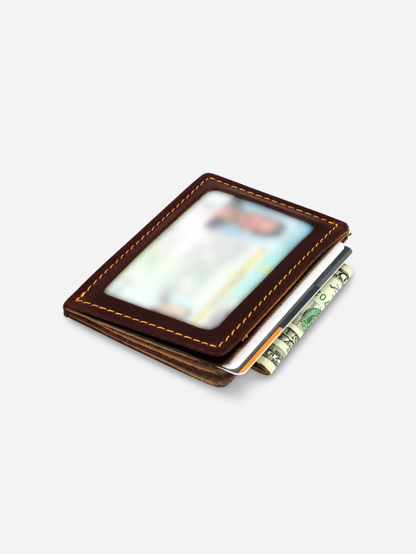 Slimmy R3S1V Mini 3-Pocket Wallet (68mm) - Oil Tan - Koyono Co.