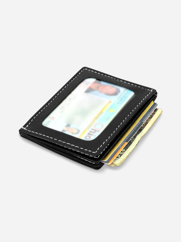 Slimmy R3S2V International 3-Pocket Wallet (79mm) - Black - bolstr® - Pocket Research