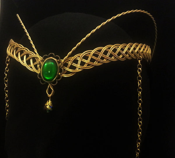 Arwen Gold elven circlet headpiece tiara